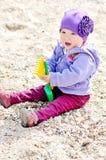 Playing baby girl Stock Image