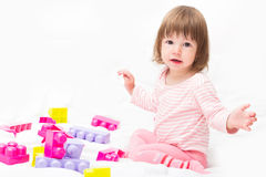 Playing baby stock image