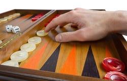 Playing Backgammon Royalty Free Stock Image