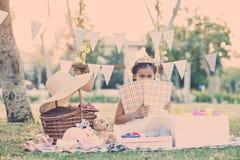 Playing in backyard Royalty Free Stock Image
