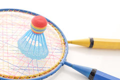 Playing Badminton Stock Image