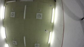 Playing a badminton stock video footage