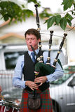 Playing the bag pipes. Royalty Free Stock Photo