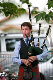 Playing the bag pipes. Stock Photography