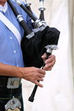 Playing bagpipe Royalty Free Stock Photo