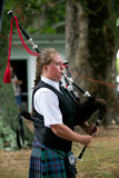 Playing the bagpipes. Royalty Free Stock Photo