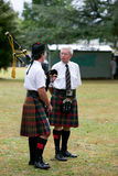 Playing the bagpipes. Royalty Free Stock Photography