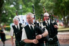 Playing the bagpipes. Stock Photography