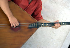 Playing the balalaika Royalty Free Stock Image
