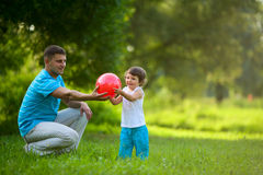 Playing ball Royalty Free Stock Photos