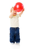 Playing Ball. Little boy Playing Ball isolated stock image