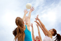 Playing with ball Royalty Free Stock Images