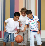 Playing ball . Children playing with a ball Stock Photography