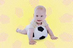Playing with a ball royalty free stock images