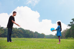 Playing ball Royalty Free Stock Photo