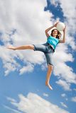 Playing ball in the air Stock Photo