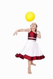 Playing with balloon Royalty Free Stock Photography
