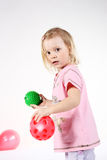 Playing with balls Royalty Free Stock Images