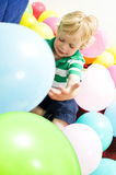 Playing with baloons Royalty Free Stock Images