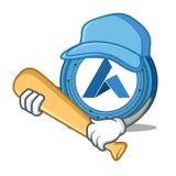 Playing baseball Ardor coin character cartoon. Vector illustration Stock Image