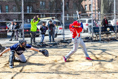 Playing baseball in bronx new york city Stock Images