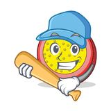 Playing baseball passion fruit character cartoon. Vector illustration Stock Photography