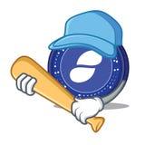 Playing baseball Status coin character cartoon. Vector illustration Royalty Free Stock Photography