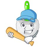 Playing baseball toilet brush in the character shape