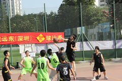The playing basketball of Company staff in shenzhen shekou sports center Stock Photos