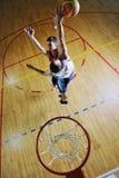 Playing basketball game Stock Image