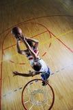 Playing basketball game Royalty Free Stock Photos