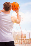 Playing Basketball. Royalty Free Stock Images