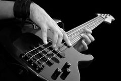 Playing bass-guiar Stock Photography