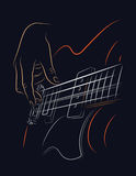 Playing Bass illustration royalty free stock photography