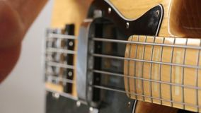 Playing the bass Stock Images
