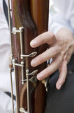 Playing on a bassoon Royalty Free Stock Photography