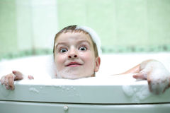Playing in the bathroom Stock Photography