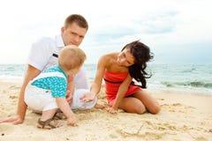Playing at beach Royalty Free Stock Image