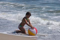 Playing at the beach Stock Image
