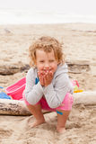 Playing on the beach Stock Photography