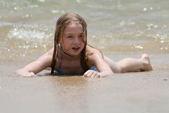 Playing at the beach Stock Photography