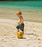 Playing on a beach in the caribbean Stock Photos