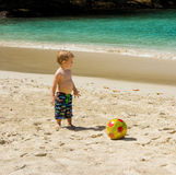 Playing on a beach in the caribbean Royalty Free Stock Photography