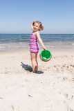 Playing on the beach Royalty Free Stock Images