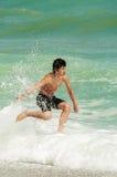 Playing on beach. Pelion, Greece Royalty Free Stock Image