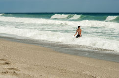 Playing on beach. Pelion, Greece Stock Images