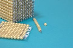 Playing with beads Stock Images