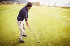Playing in a Big golf course Royalty Free Stock Photo