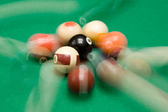 Playing Billiard Royalty Free Stock Photos