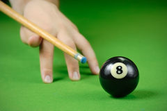 Playing billiard Stock Photos